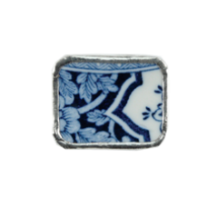 Blue and White Brooch