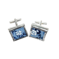 Blue and White China cufflinks