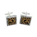 Black scroll cufflinks
