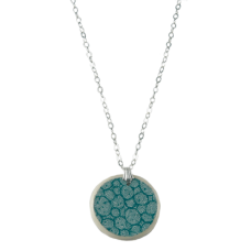 Teal 'Pebble' Pendant