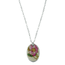 Wild Rose Oval Pendant