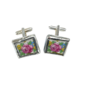 Floral vintage china cufflinks